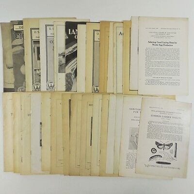 Lot 28 Vtg Farming Agricultural Bulletins Booklets - 1915 - 1942 Poultry Cheese