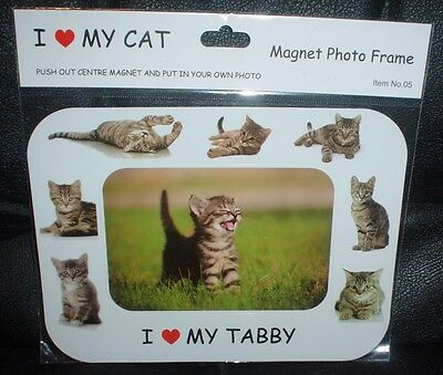 Tabby I Love My Cat Magnetic Photo Frame