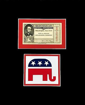 Republican National Convention Ticket 1940