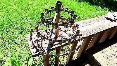 Antique Large French Floor Candelabra Metal Gothic Tole 53 candle!! G/ O Thrones