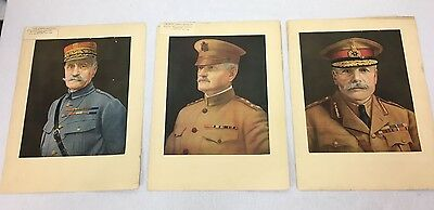 Three Vintage Famous Generals Of WWI Prints