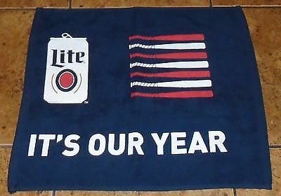 It's Our Year Chicago Cubs Miller Lite Hand Rally Towel NEW