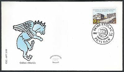 Bosnia Herzegovina, 1999, croatian post, (#54) - Archeology, Stolac, FDC