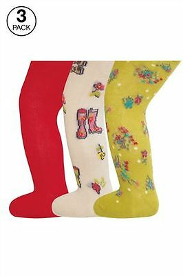 Bnip Next Floral Welly Tights Three Pack Size 3-4 Years