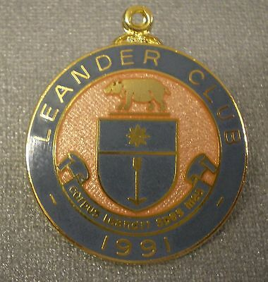 LEANDER CLUB 1991 ENAMEL Badge HENLEY ON THAMES - ROWING corpus leandri spes mea