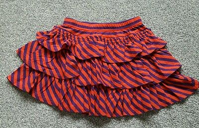 MINI BODEN GIRLS RUFFLE TIERED JERSEY SKIRT AGE 3-4 years. Brand new.