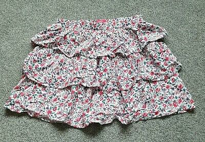 JOULES GIRLS RUFFLE TIERED FLORAL SKIRT AGE 11-12 years. Brand new.