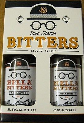 Hella Two Favor Bitters Bar Set  Aromatic-Orange Plus Carry on Cocktail Kit SALE