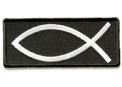 Fish Sign Christian Embroidered Patch