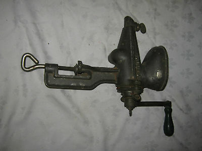 Rare Old Vintage Fowlers Cast Iron Hand Crank Fruit and Vegetable Juicer