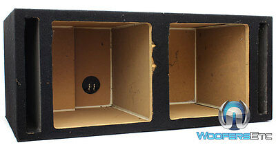 """Dual 12"""" Mdf Box Square Kicker Subwoofers Speakers Ported Bass Enclosure New"""