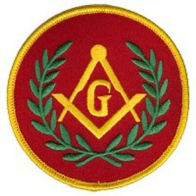 Masonic G - Red Embroidered Patch