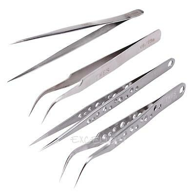 1PC Anti-Static Stainless Steel Tweezer Eyelash Extension Makeup Tool Make-up