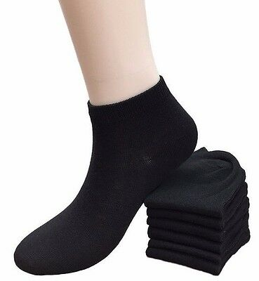 6-12 Pairs Women's Black Ankle Socks Girls Cotton Low Cut Sock Size 9-11 New