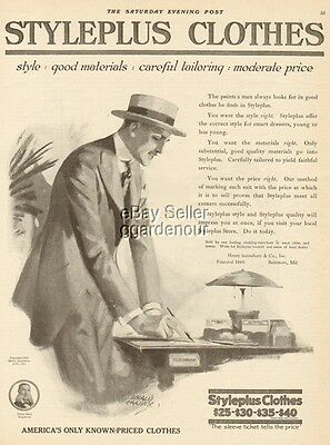 1919 STYLEPLUS CLOTHES Men's Fashions-Donald Gardner Art Ad