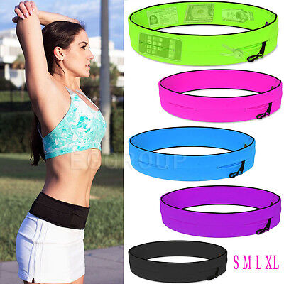 "Fitness Sports Jogging Running Waist Belt Pouch Bag Case For 3.5"" -6"" Cell Phone"
