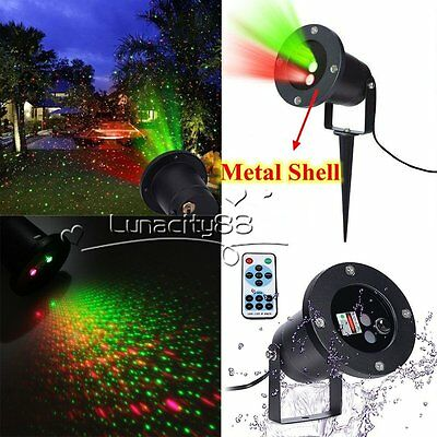 Moving Star Projector Laser Lights Waterproof Shower Motion Xmas Lamp + Remote