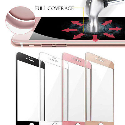 iPhone 8/X/7/6S /Plus 3D Full Curved Protection Cover Tempered Glass Screen Film