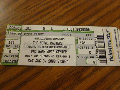 The Metal Masters Judas Priest Dio Heaven And Hell Full Concert Ticket Stub 2008