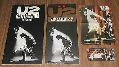 U2 Japan PROMO ONLY & movie book, ticket & flyer SET Rattle & Hum NOT tour book