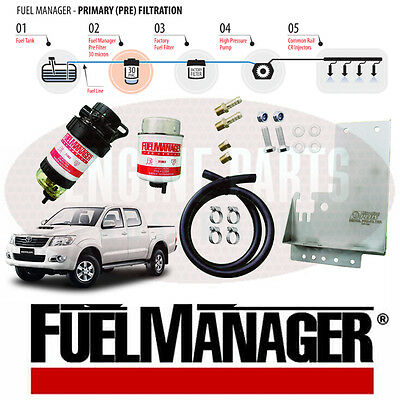 Fuel Manager Water Separator Kit FM612DPK for Toyota Hilux 3.0L Diesel 30 Micron