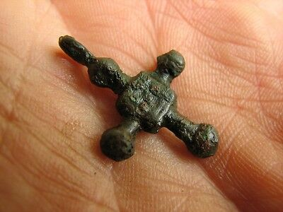 Rare Bronze Viking Cross - Pendant #4730
