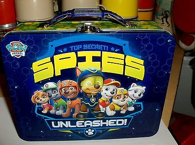 Paw Patrol`2016`Secret Spies`Metal Lunchbox`New With Tag->Tin Box Co->Free To US