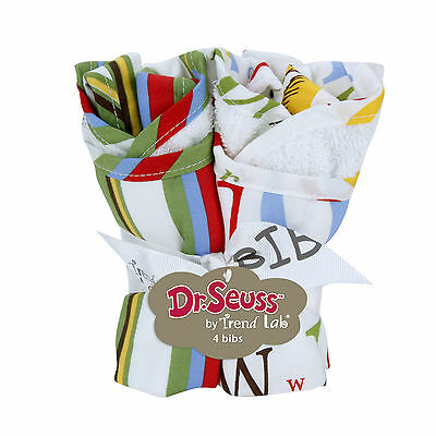 Trend Lab Bouquet 4 Pack Bib - Dr. Seuss ABC