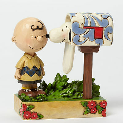 Jim Shore Peanuts Charlie Brown Mailbox Special Delivery Figurine #4042380