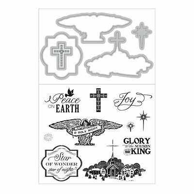 Art C Stamp & Cut - Clear Stamps & Matching Die Cuts - Faith - Religion