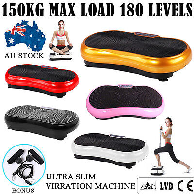 Ultra Slim Vibration Machine Platform Plate Fitness Exercise Body Massage 180lel