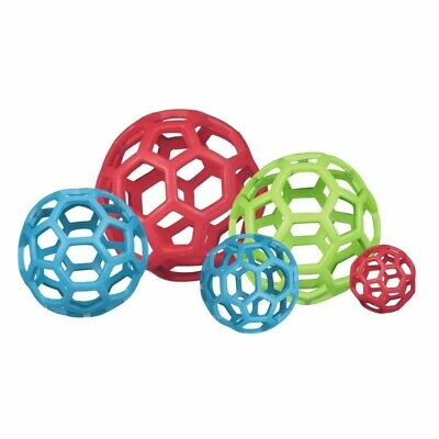 "Hol-ee Roller, JW Pet - Durable Rubber Dog Toy - Size XL (8"") Assorted Colours"
