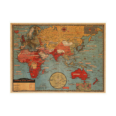 Giant world map poster vintage retro photo wall paper mural hanging retro world map removable wall vintage photo living room decor mural wall paper gumiabroncs Image collections