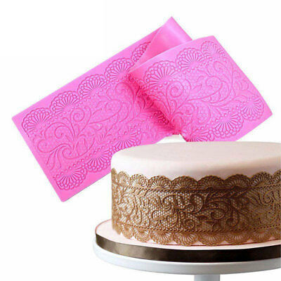 Silicone Flower Lace Fondant Cake Mould Chocolate Pastry Baking Mat Mold