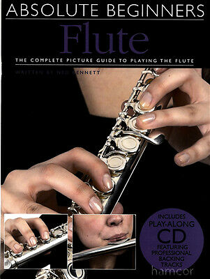Absolute Beginners Flute Learn How to Play Book +CD