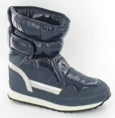 Girls & Boys Winter Snow Boots (Navy Blue) Sizes 10 - 2
