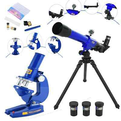 Childrens Science Microscope and Telescope Set with Tripod Kids Astronomy Toy
