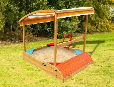 Lifespan Kids Captain Sandpit Outdoor Sand Pit Outdoor Play Equipment