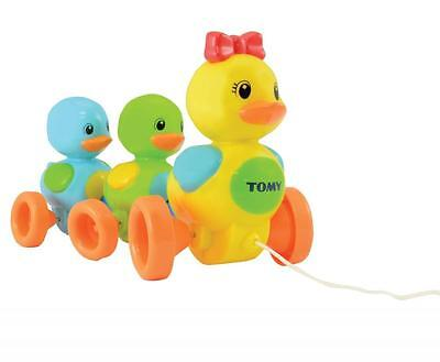 Tomy E4613 Strong Durable Bright & Colourful Pull Along Quack Along Ducks Toy