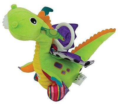 Lamaze LC27565 Durable Fabrics in Six Different Textures Flip Flap Dragon Toy