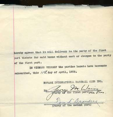 George Weiss 1932 Signed Jsa Contract Authentic Autograph