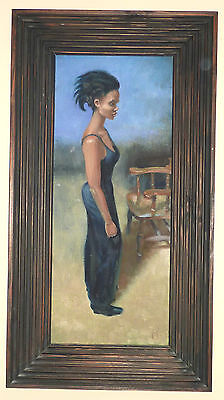 Piran Bishop Oil On Canvas Signed Painting Ethnic Lady Lenkiewicz Student
