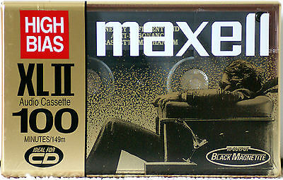 Maxell XLII 100 GOLD 70uS High Bias Blank Cassette Tape  Made In Japan