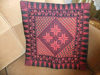 Palestinian embroidery,cross stitch handmade cushion,pilow cover,amazing colors.