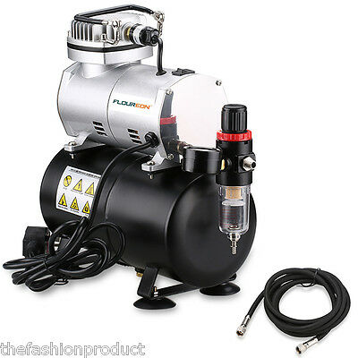 Professional Air Brush Compressor Airbrush Hose Set Craft Kit 3.0L Air Tank
