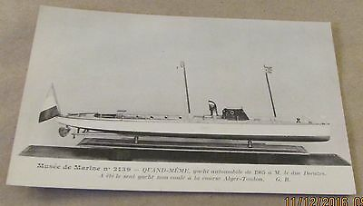 Postcard...., Old Sail & Steam Ships ..QUAND-MEME---MODEL OF 1905 YACHT