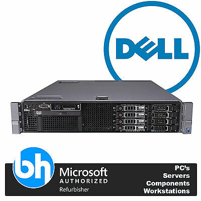 "Dell R710 PowerEdge 2.5"" x 8 Rack Server 2 x Xeon Quad Core E5506 24GB RAM H200"