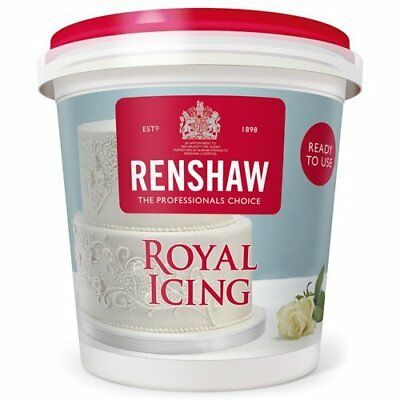 Renshaw Ready Made Royal Icing For Cakes Cupcakes Spread Decorating Piping 400g