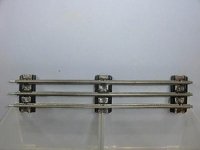 "VINTAGE HORNBY ""0"" MODEL No.EB1 3-RAIL 10"" ELECTRIC STRAIGHT RAIL +TAPER SLEEPER"