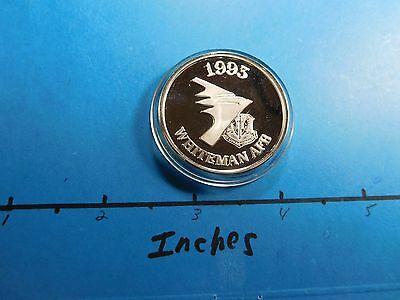 Acc-1 Delivery B-2 Stealth Bomber 1993 Afb Whiteman 999 Silver Coin Rare Cool